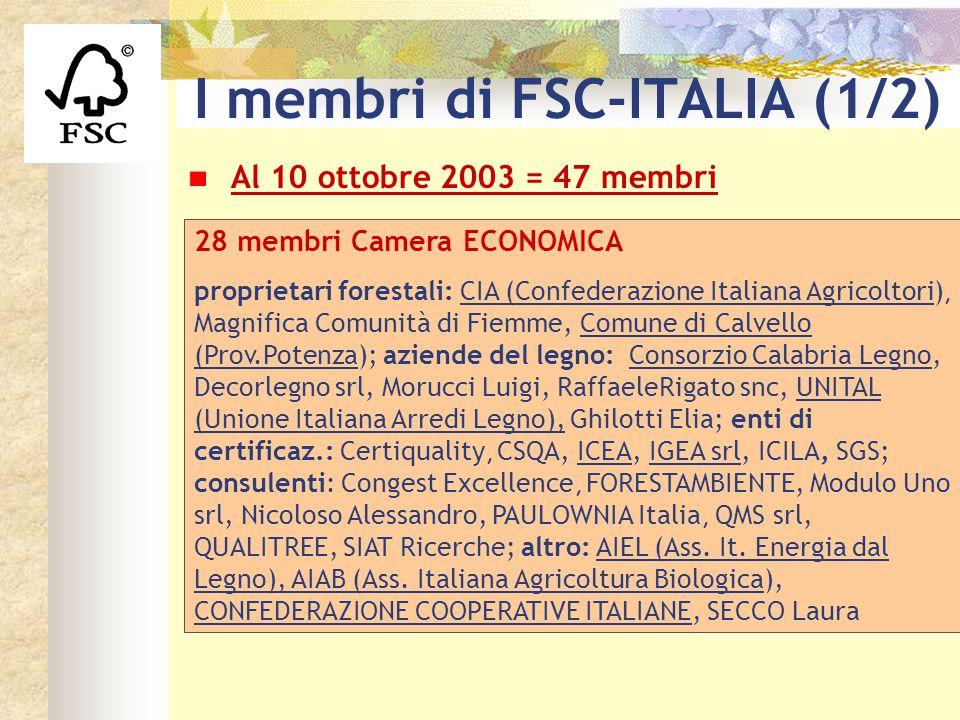 I membri di FSC-ITALIA (1/2)