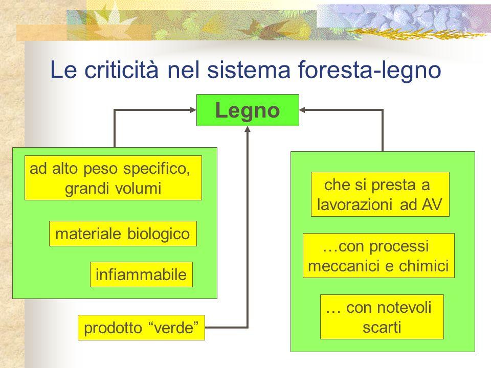 Le criticità nel sistema foresta-legno