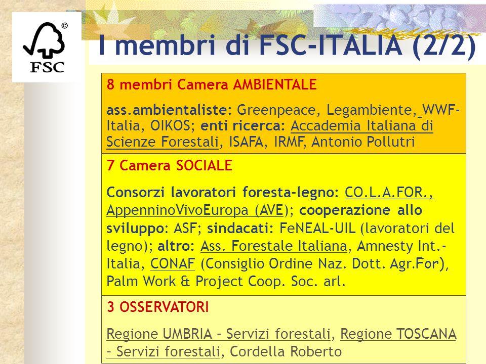 I membri di FSC-ITALIA (2/2)