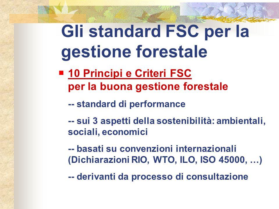 Gli standard FSC per la gestione forestale