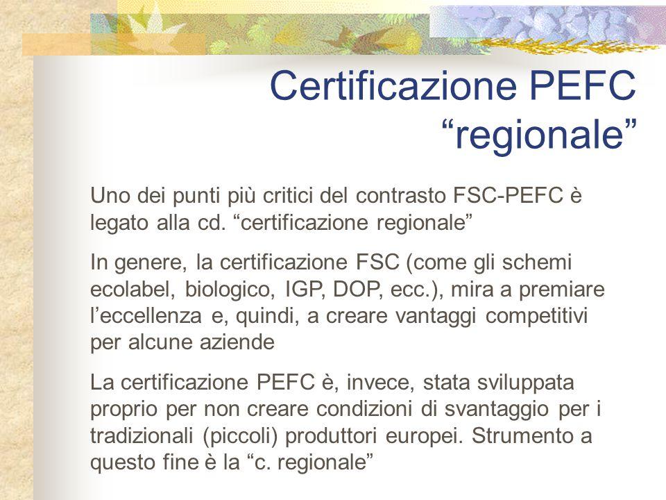 Certificazione PEFC regionale