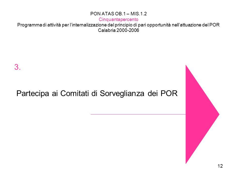 Partecipa ai Comitati di Sorveglianza dei POR
