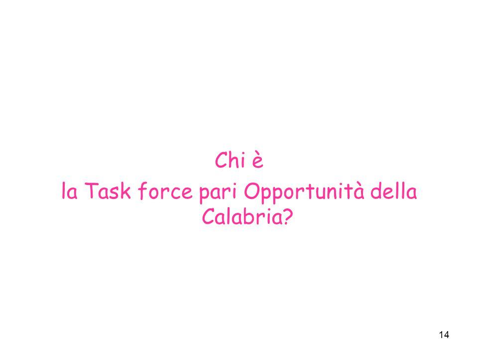 la Task force pari Opportunità della Calabria