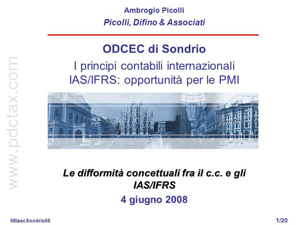 I principi contabili internazionali IAS/IFRS: opportunità per le PMI