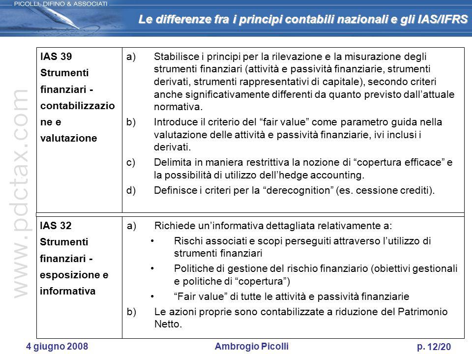 IAS 39 Strumenti finanziari - contabilizzazio ne e valutazione