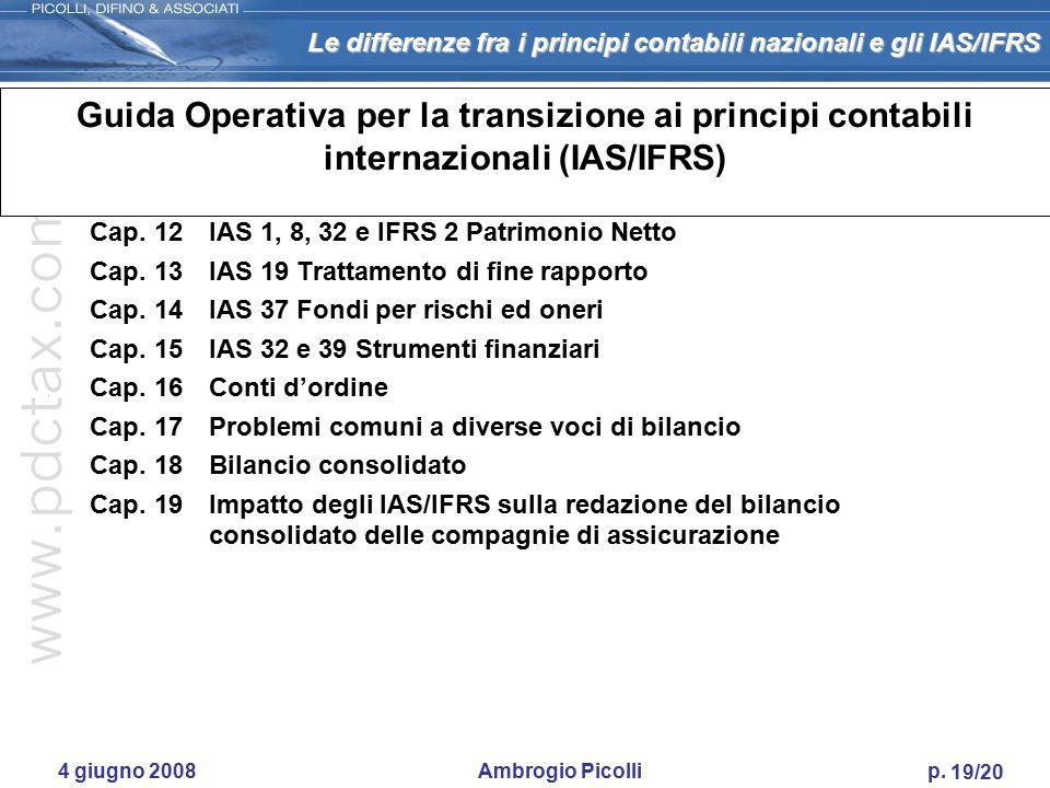 Guida Operativa per la transizione ai principi contabili internazionali (IAS/IFRS)