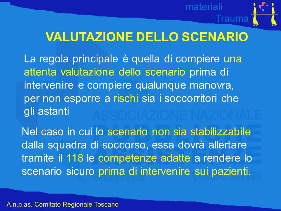 VALUTAZIONE DELLO SCENARIO