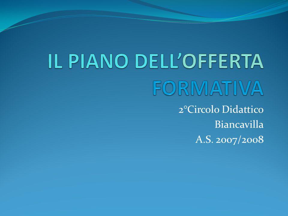 IL PIANO DELL'OFFERTA FORMATIVA
