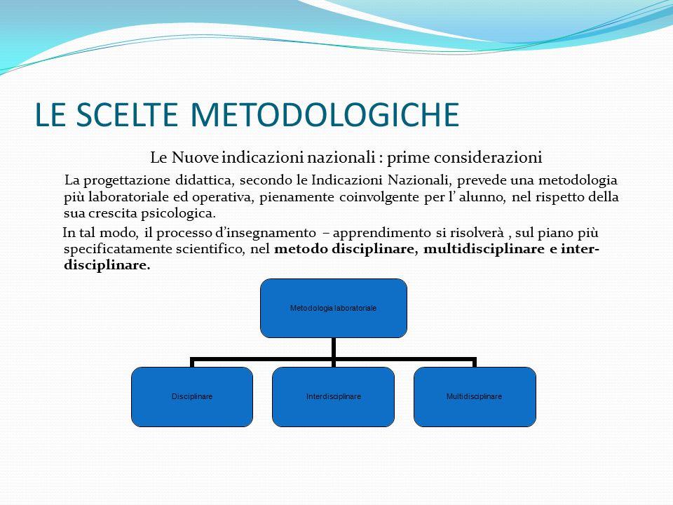 LE SCELTE METODOLOGICHE