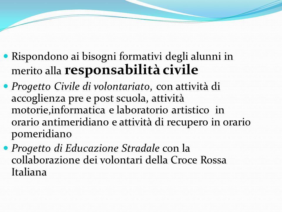 Rispondono ai bisogni formativi degli alunni in merito alla responsabilità civile