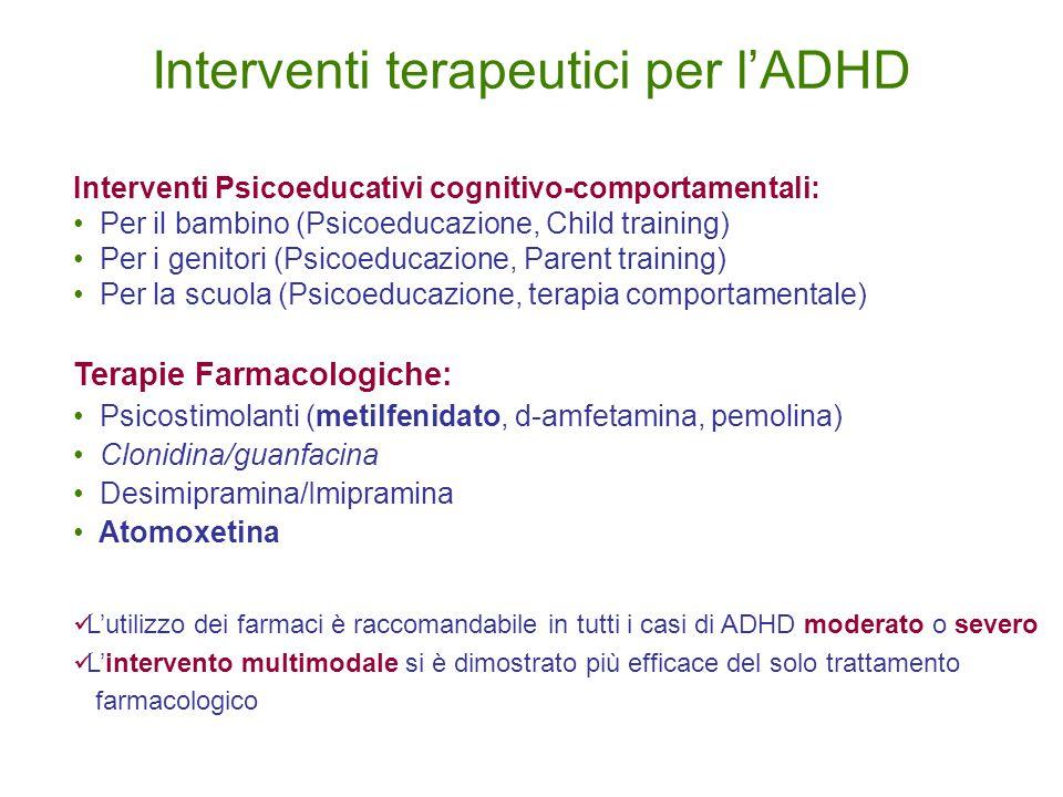 Interventi terapeutici per l'ADHD