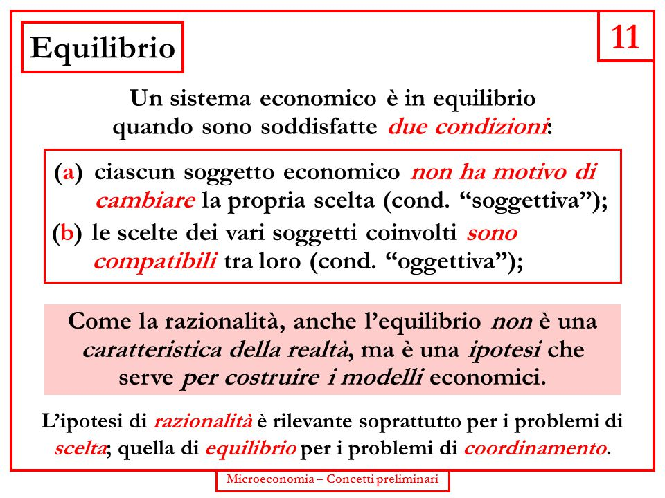 Microeconomia – Concetti preliminari