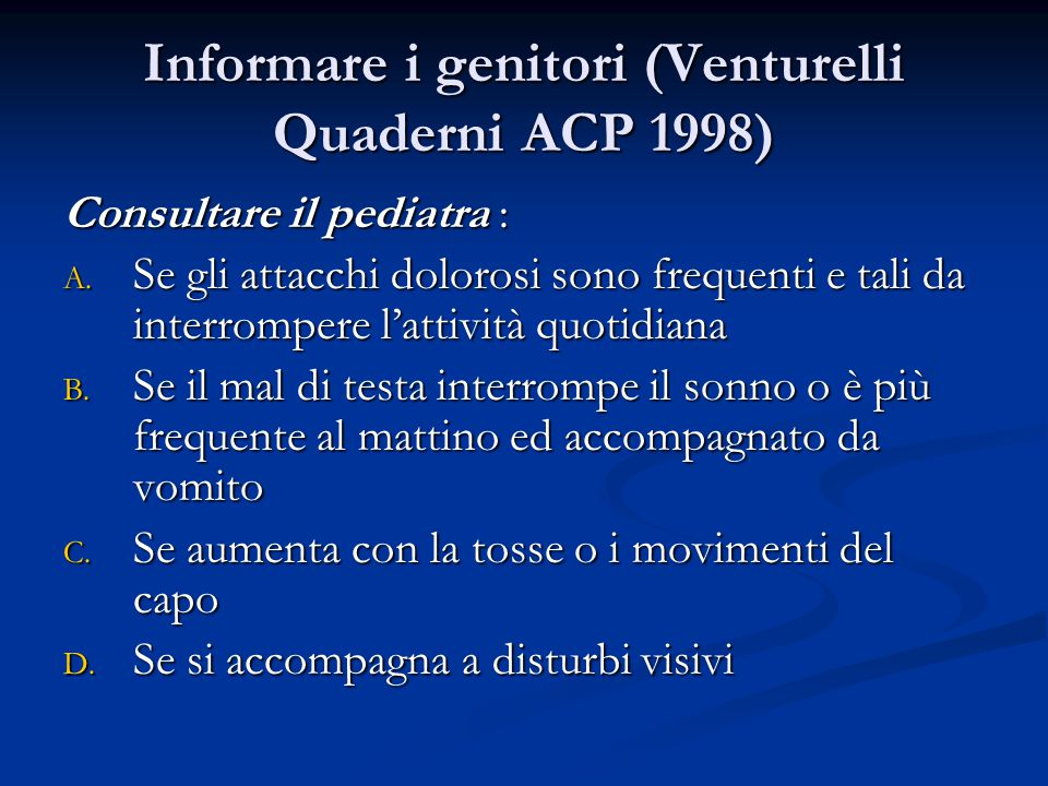 Informare i genitori (Venturelli Quaderni ACP 1998)