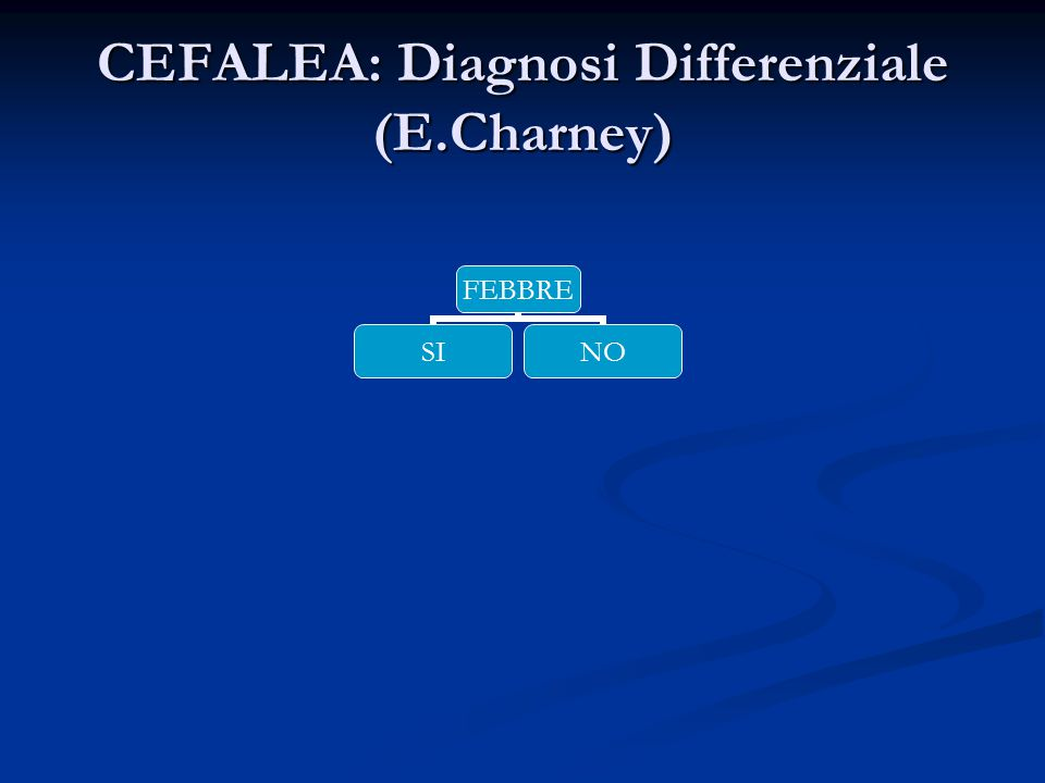 CEFALEA: Diagnosi Differenziale (E.Charney)