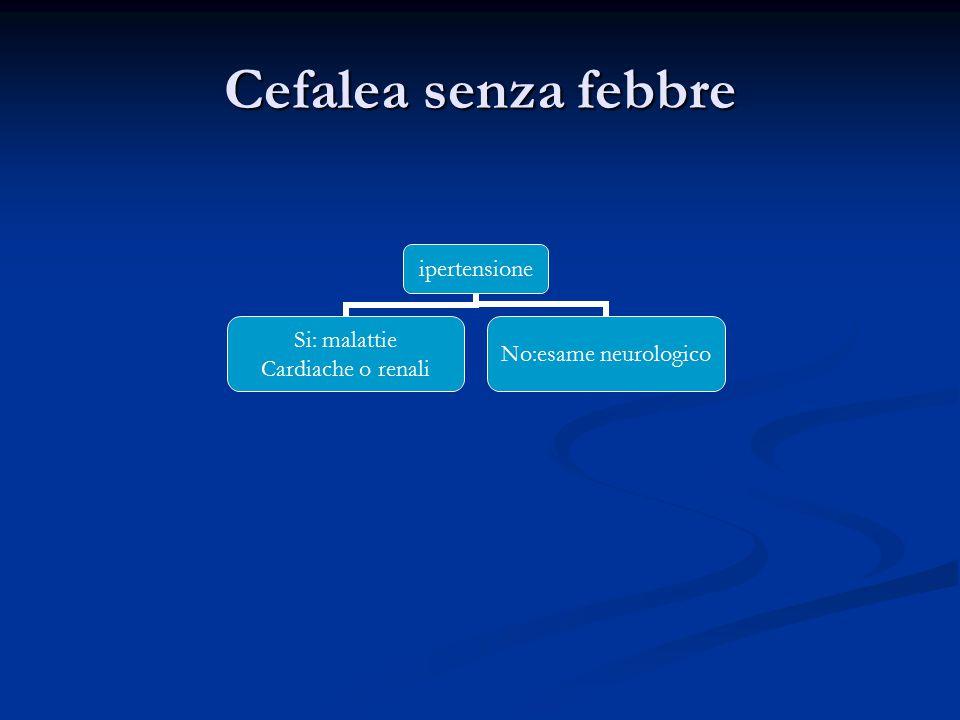 Cefalea senza febbre