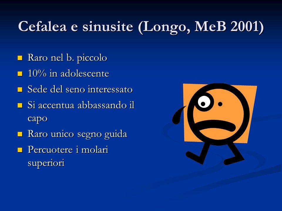 Cefalea e sinusite (Longo, MeB 2001)