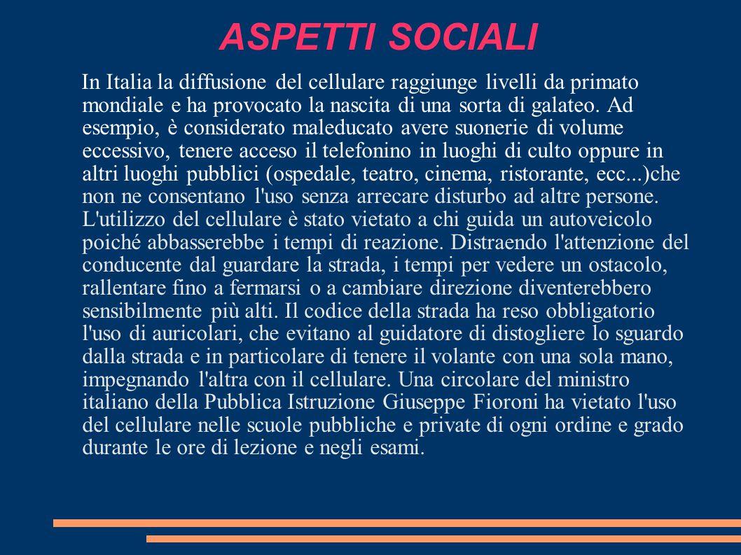 ASPETTI SOCIALI