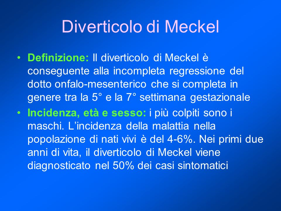 Diverticolo di Meckel
