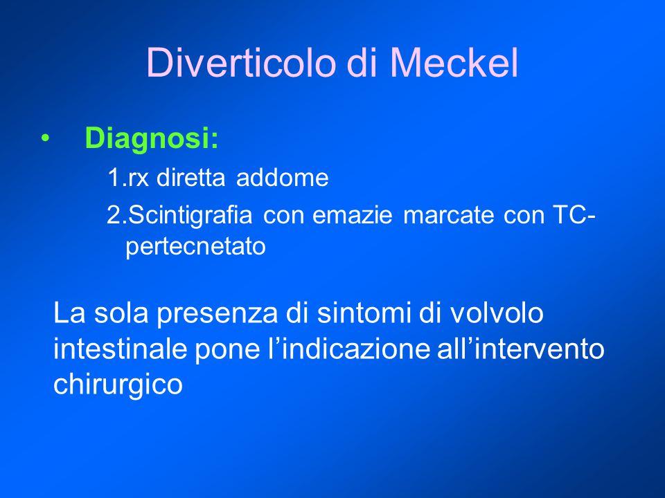 Diverticolo di Meckel Diagnosi: