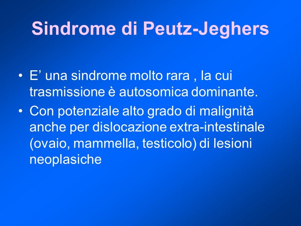 Sindrome di Peutz-Jeghers