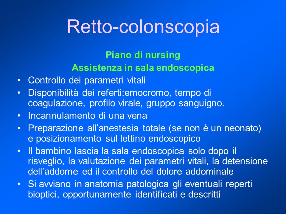 Assistenza in sala endoscopica