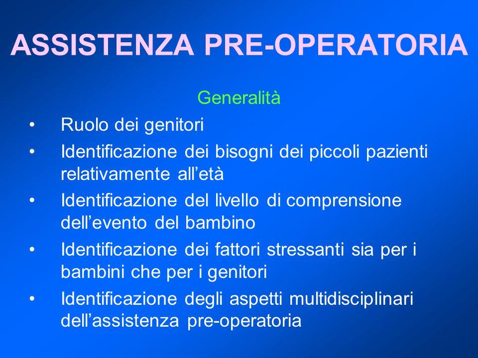 ASSISTENZA PRE-OPERATORIA