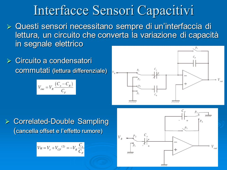 Interfacce Sensori Capacitivi
