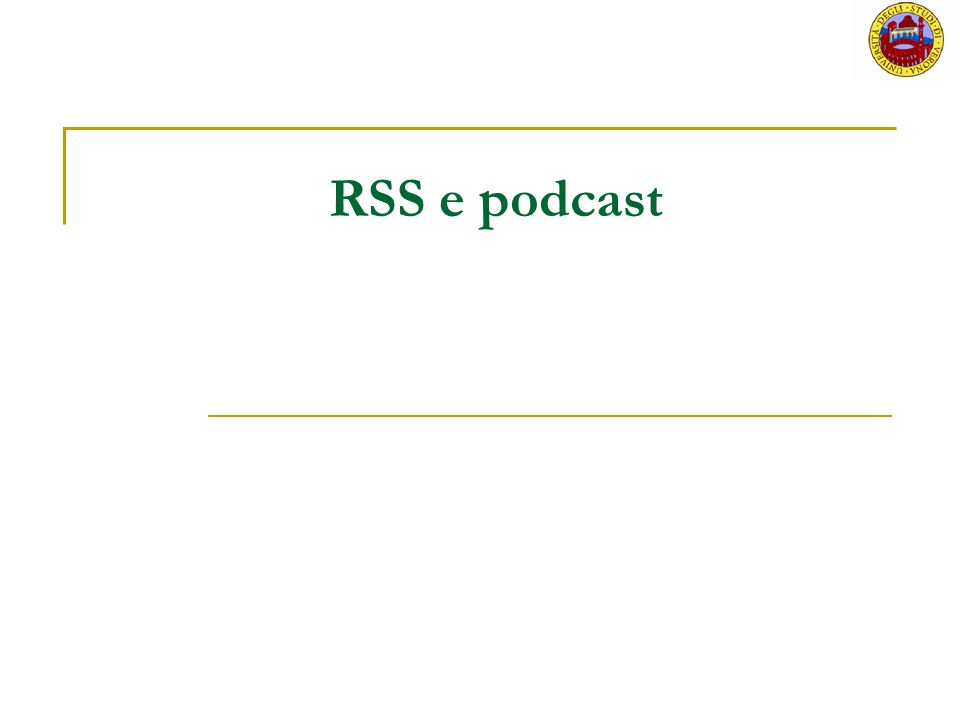 RSS e podcast