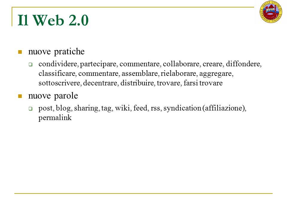 Il Web 2.0 nuove pratiche nuove parole