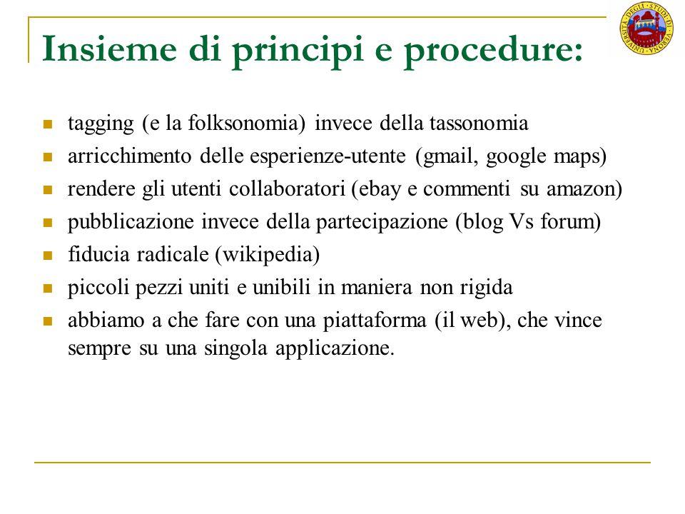Insieme di principi e procedure: