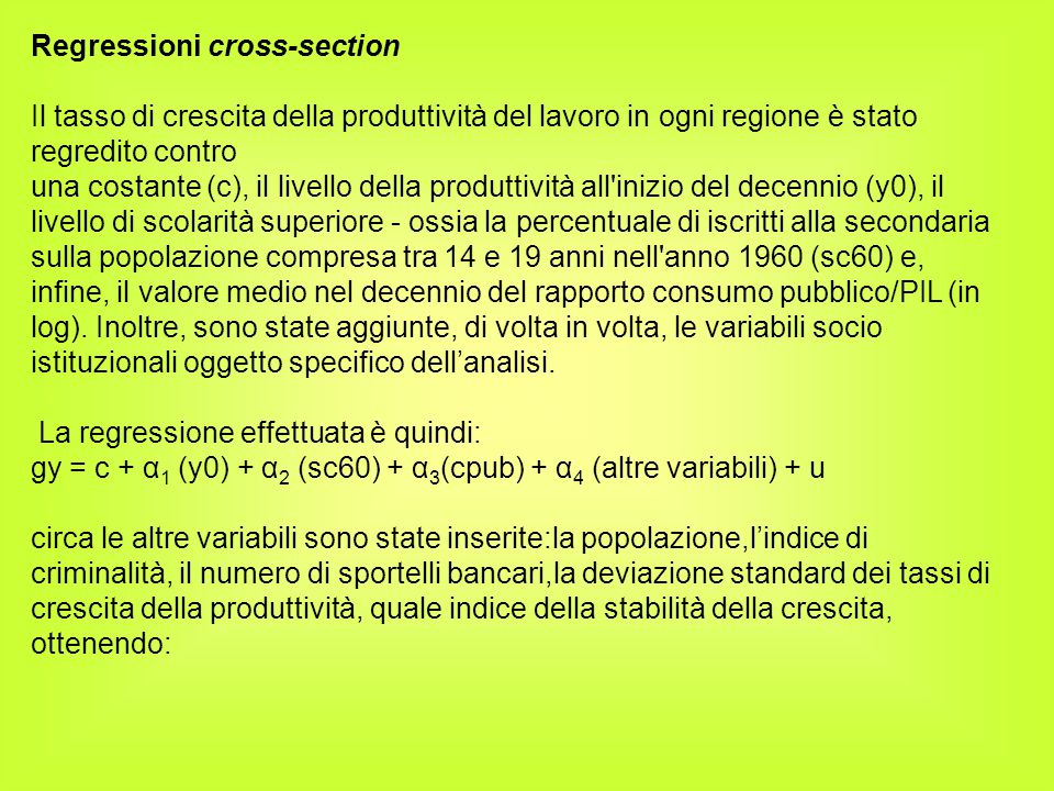 Regressioni cross-section