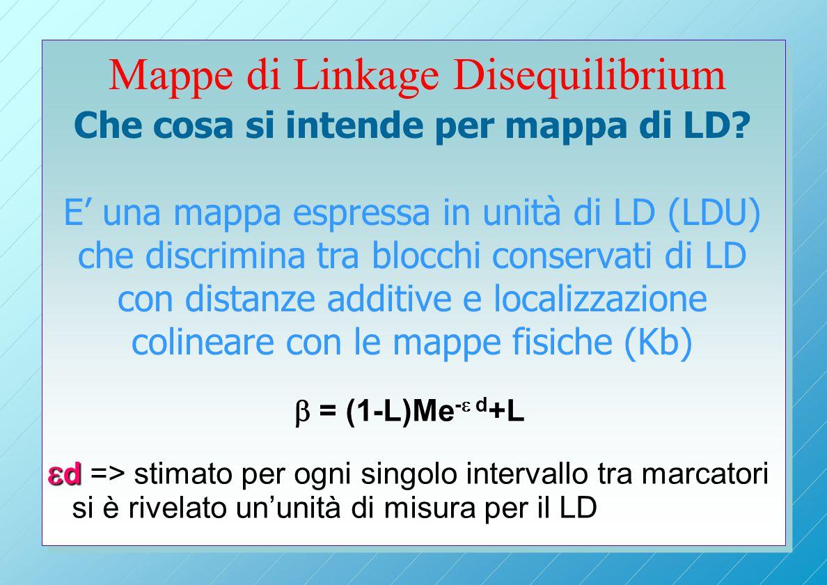 Mappe di Linkage Disequilibrium