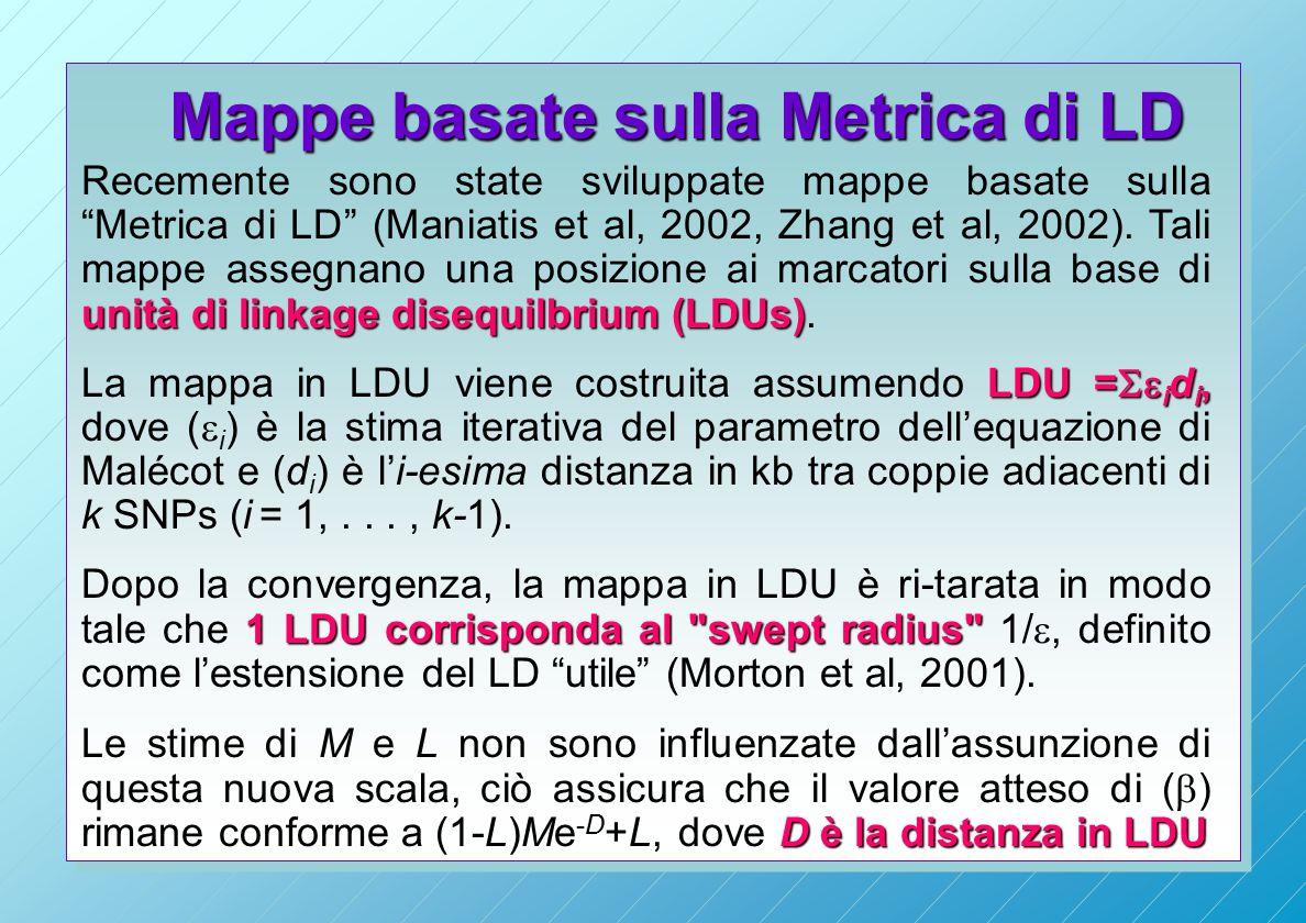Mappe basate sulla Metrica di LD