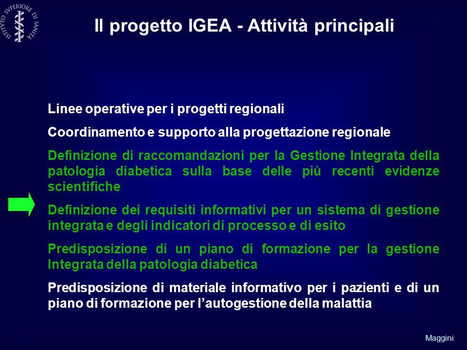 Il progetto IGEA - Attività principali