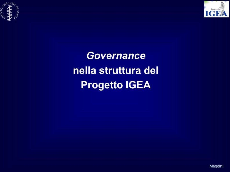 Governance nella struttura del Progetto IGEA