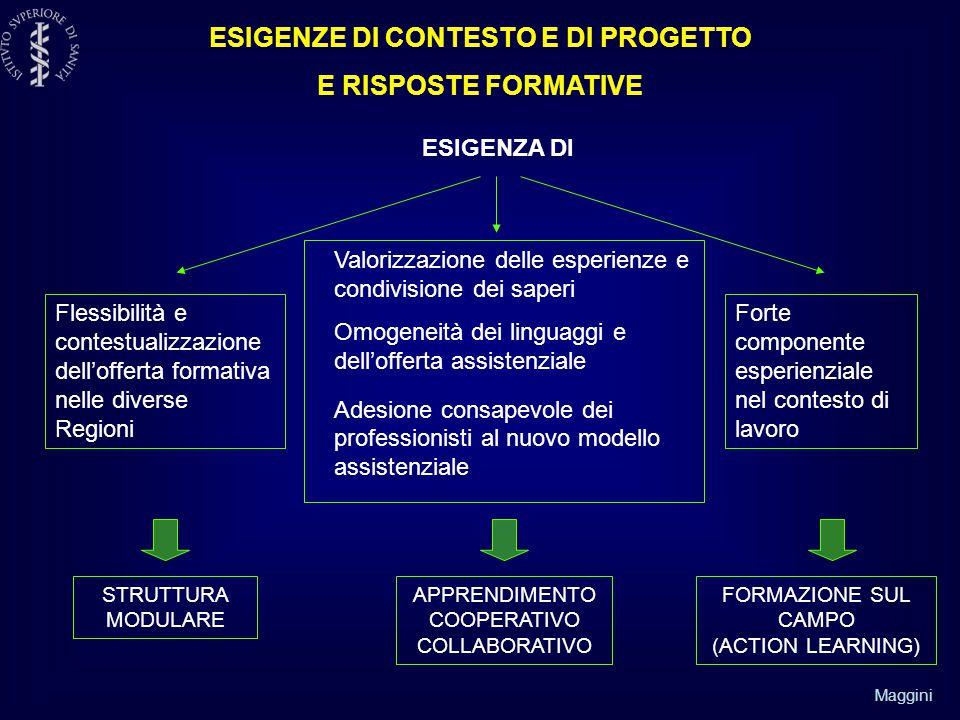 ESIGENZE DI CONTESTO E DI PROGETTO