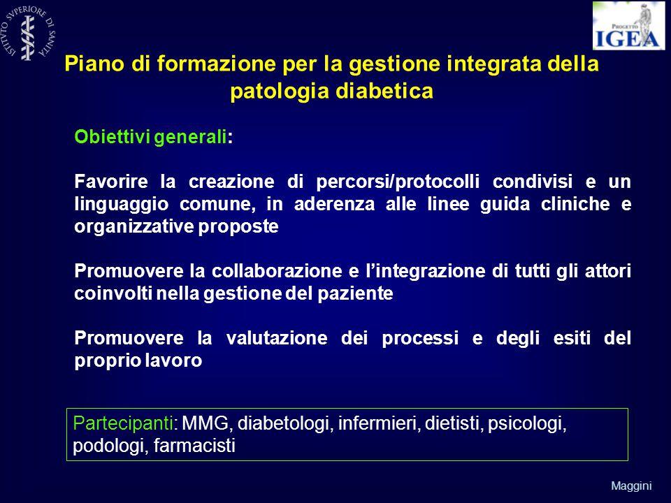 Piano di formazione per la gestione integrata della patologia diabetica