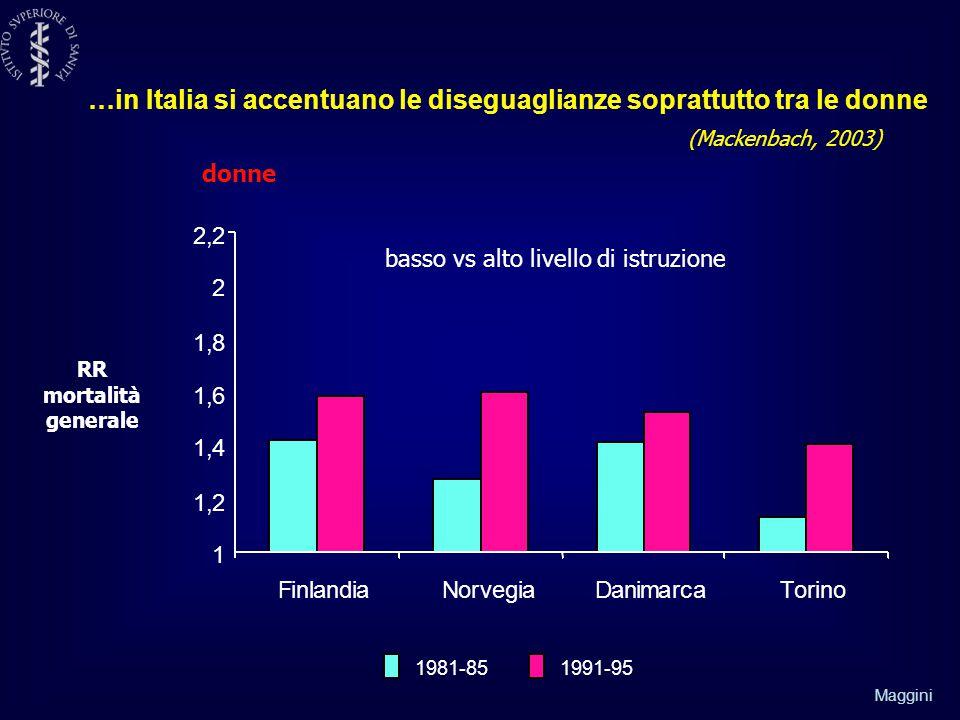 …in Italia si accentuano le diseguaglianze soprattutto tra le donne