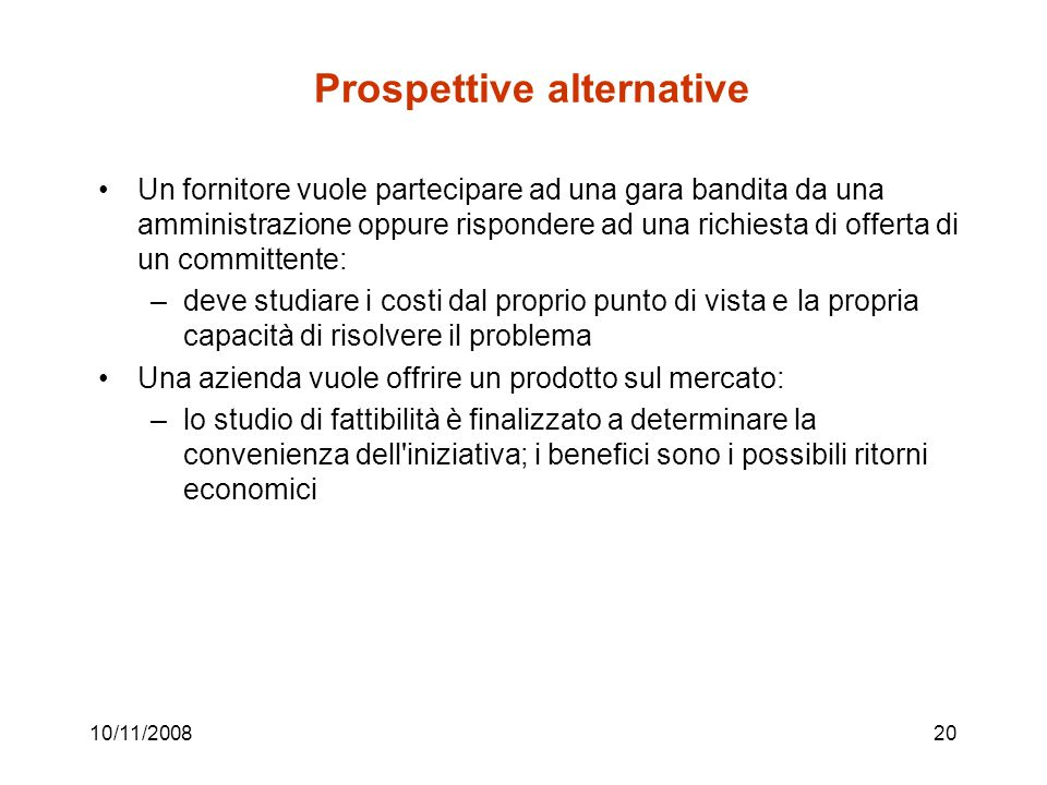 Prospettive alternative