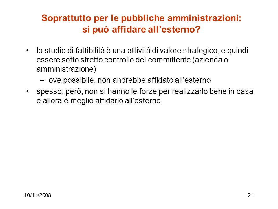 Soprattutto per le pubbliche amministrazioni: si può affidare all'esterno