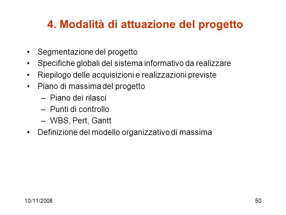 4. Modalità di attuazione del progetto