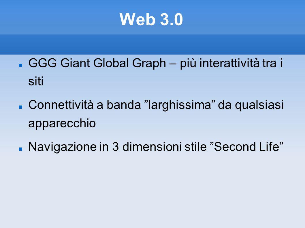 Web 3.0 GGG Giant Global Graph – più interattività tra i siti
