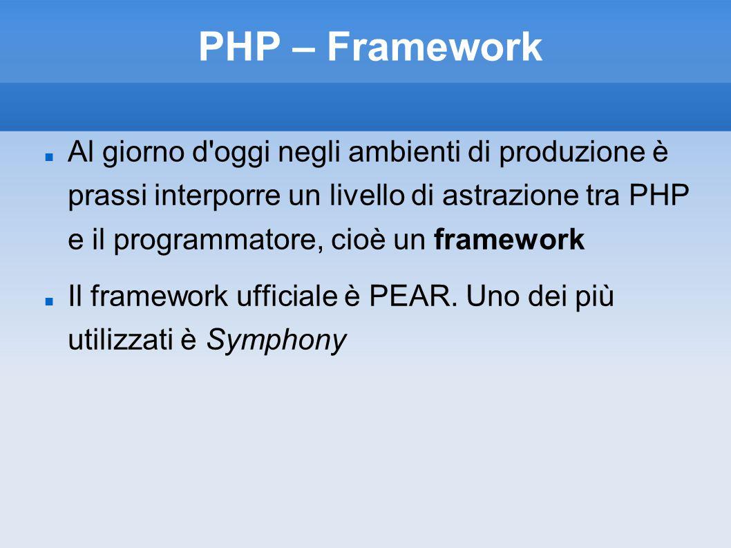 PHP – Framework