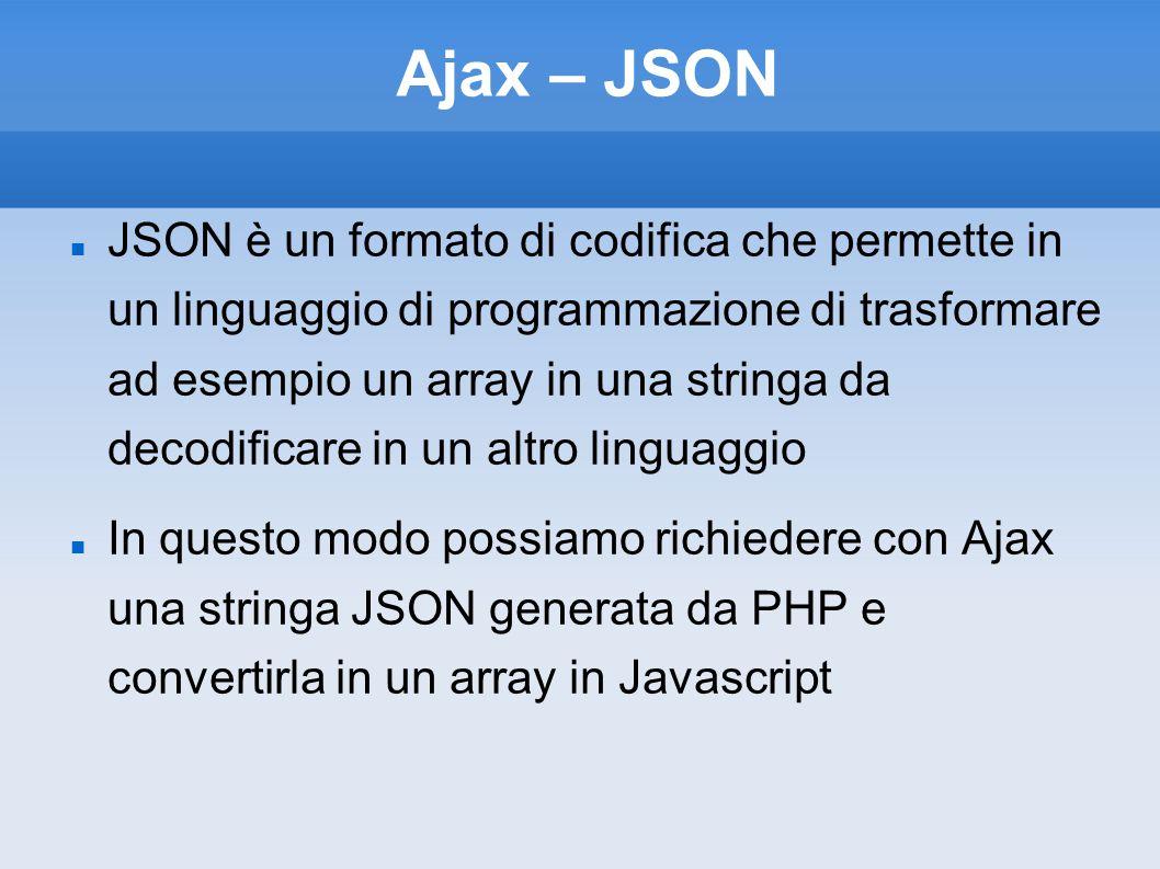 Ajax – JSON