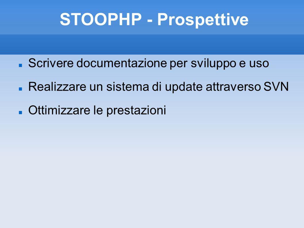 STOOPHP - Prospettive Scrivere documentazione per sviluppo e uso