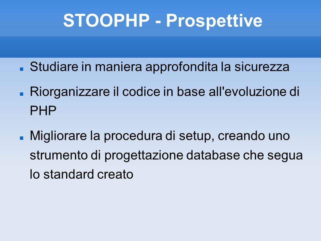 STOOPHP - Prospettive Studiare in maniera approfondita la sicurezza