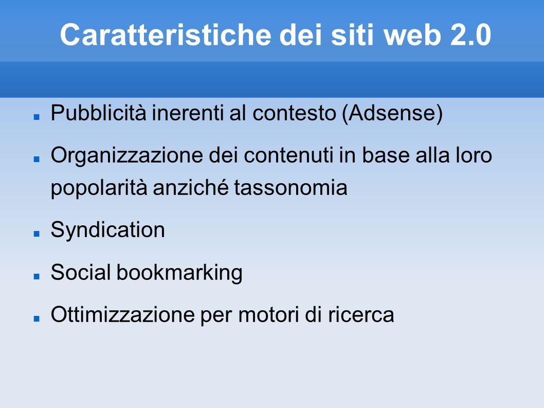 Caratteristiche dei siti web 2.0