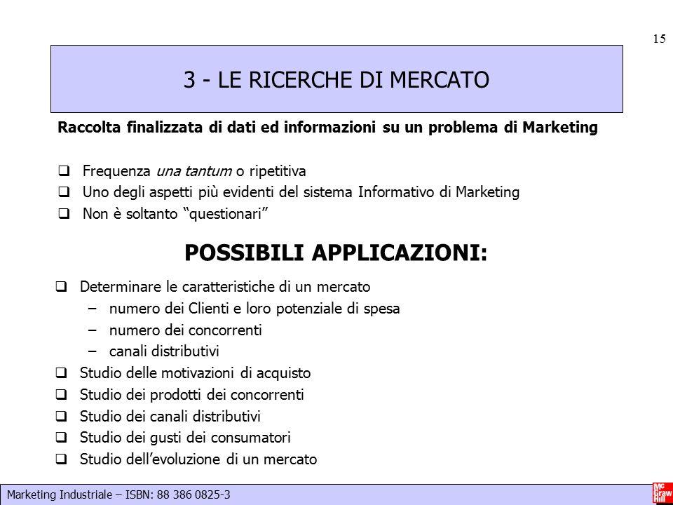 3 - LE RICERCHE DI MERCATO