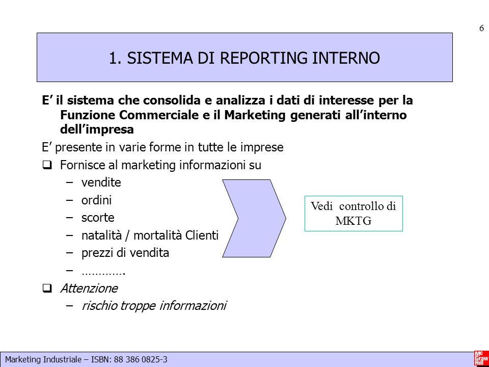 1. SISTEMA DI REPORTING INTERNO