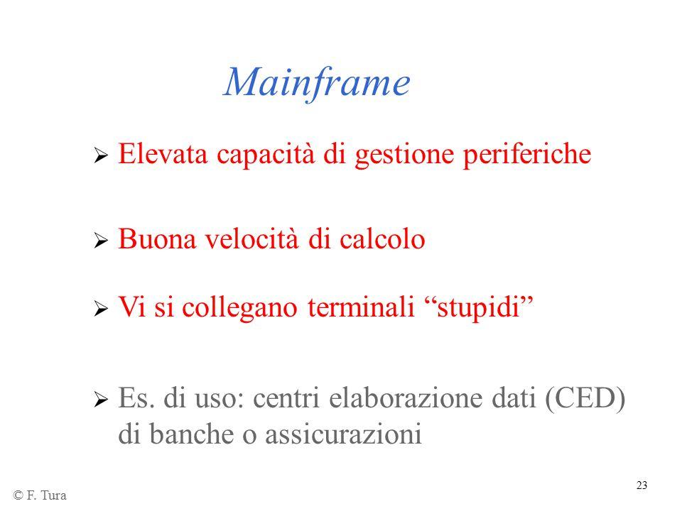 Mainframe Elevata capacità di gestione periferiche
